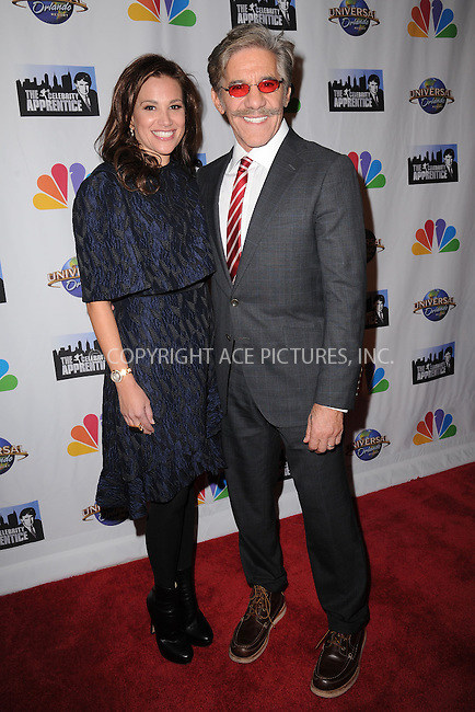 WWW.ACEPIXS.COM<br /> February 16, 2015 New York City<br /> <br /> Erica Michelle Levy and Geraldo Rivera arriving to the Celebrity Apprentice Finale viewing party and post show red carpet on February 16, 2015 in New York City.<br /> <br /> Please byline: Kristin Callahan/AcePictures<br /> <br /> ACEPIXS.COM<br /> <br /> Tel: (646) 769 0430<br /> e-mail: info@acepixs.com<br /> web: http://www.acepixs.com