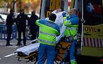 Evictions. The emergency services attend to Concepcion Gil during the eviction of her home. Madrid 10/11/25..Desahucios. Concepcion Gil es atendida por el SAMUR  durante el desalojo de su vivienda por parte del IVIMA. Madrid 25-10-11.