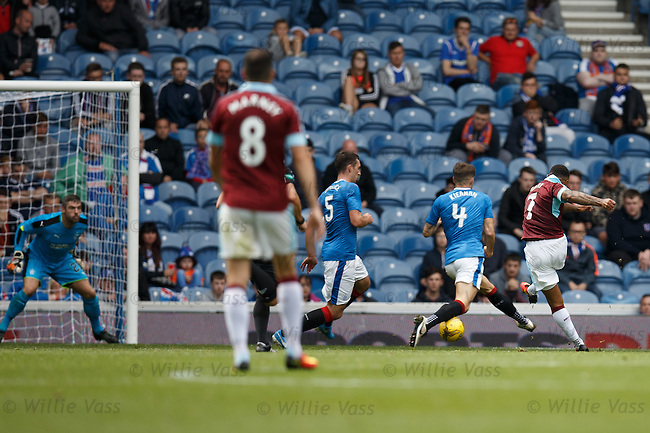 Andre Gray scores goal no 3 for Burnley