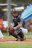 Mason Cooper (43) during the WWBA World Championship at the Roger Dean Complex on October 12, 2019 in Jupiter, Florida.  Mason Cooper attends Jefferson High School in Jefferson, GA and is Uncommitted.  (Mike Janes/Four Seam Images)
