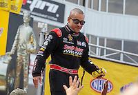 May 15, 2016; Commerce, GA, USA; NHRA top fuel driver J.R. Todd during the Southern Nationals at Atlanta Dragway. Mandatory Credit: Mark J. Rebilas-USA TODAY Sports