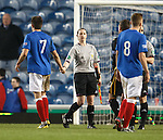 Andy Little with assistant referee Lorraine Clark