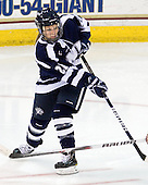 Molly Morrison (UNH - 21) - The Boston College Eagles and the visiting University of New Hampshire Wildcats played to a scoreless tie in BC's senior game on Saturday, February 19, 2011, at Conte Forum in Chestnut Hill, Massachusetts.