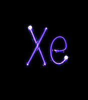 NOBLE GAS DISCHARGE TUBES - ELEMENTAL SYMBOLS<br />