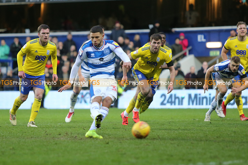 Nahki Wells of QPR misses his penalty during Queens Park Rangers vs Birmingham City, Sky Bet EFL Championship Football at Loftus Road Stadium on 9th February 2019