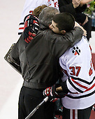 Rob Rassey (Northeastern - 37) - The Northeastern University Huskies defeated the Boston College Eagles 2-1 OT in the NU senior night game on Friday, March 6, 2009 at Matthews Arena in Boston, Massachusetts.