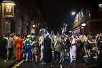 © Joel Goodman - 07973 332324 . 26/12/2015 . Wigan , UK . Revellers in Wigan enjoy Boxing Day drinks and clubbing in Wigan Wallgate . In recent years a tradition has been established in which put on fancy dress for a Boxing Day night out . Photo credit : Joel Goodman