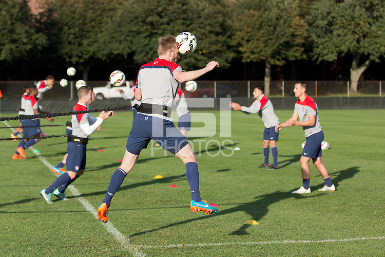 Boston, Mass. - October 8, 2014: The U.S. Men's National Team train at Harvard's, Ohiri Field in preparation for their upcoming match vs Ecuador.