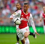 Nederland, Amsterdam, 15 september  2012.Seizoen 2012/2013.Eredivisie.Ajax-RKC 2-0.Tobias Sana van Ajax in actie met de bal..