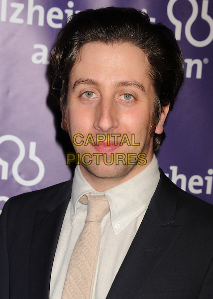 "Simon Helberg.arriving at the 20th Anniversary Alzheimer's Association ""A Night At Sardi's"" at The Beverly Hilton Hotel in Beverly Hills, California, USA, .March 21st, 2012..portrait headshot black white shirt tie .CAP/ROT/TM.©TM/Roth Stock/Capital Pictures"