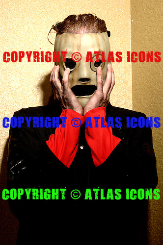 (#8) Corey Taylor – lead vocals, Slipknot Studio Portrait Session In Desmoines Iowa.Photo Credit: Eddie Malluk/Atlas Icons.com
