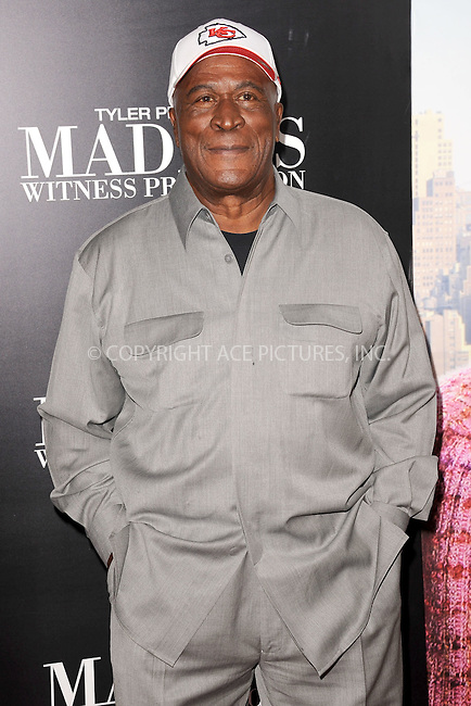 WWW.ACEPIXS.COM . . . . . .June 25, 2012...New York City....John Amos arriving to Tyler Perry's 'Madea's Witness Protection' New York Premiere at AMC Lincoln Square Theater on June 25, 2012 in New York City ....Please byline: KRISTIN CALLAHAN - ACEPIXS.COM.. . . . . . ..Ace Pictures, Inc: ..tel: (212) 243 8787 or (646) 769 0430..e-mail: info@acepixs.com..web: http://www.acepixs.com .