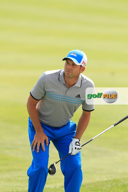Sergio Garcia (ESP) on the 10th fairway during Round 1 of the Open de Espana  in Club de Golf el Prat, Barcelona on Thursday 14th May 2015.<br /> Picture:  Thos Caffrey / www.golffile.ie