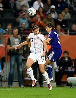 Alex Morgan, Azusa Iwashimizu.  Japan won the FIFA Women's World Cup on penalty kicks after tying the United States, 2-2, in extra time at FIFA Women's World Cup Stadium in Frankfurt Germany.