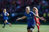 Seattle, WA - Saturday August 26, 2017: Jess Fishlock during a regular season National Women's Soccer League (NWSL) match between the Seattle Reign FC and the Portland Thorns FC at Memorial Stadium.