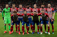 Atletico de Madrid's team photo during UEFA Champions League match, Round of 16, 1st leg between Atletico de Madrid and Juventus at Wanda Metropolitano Stadium in Madrid, Spain. February 20, 2019. (Insidefoto/ALTERPHOTOS/A. Perez Meca)<br /> ITALY ONLY
