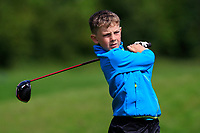 Niall Conneely (Ballinasloe) on the 1st tee during the Connacht U12, U14, U16, U18 Close Finals 2019 in Mountbellew Golf Club, Mountbellew, Co. Galway on Monday 12th August 2019.<br /> <br /> Picture:  Thos Caffrey / www.golffile.ie<br /> <br /> All photos usage must carry mandatory copyright credit (© Golffile | Thos Caffrey)