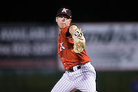 Kannapolis Intimidators relief pitcher Matt Ball (23) in action against the Hickory Crawdads at Kannapolis Intimidators Stadium on April 7, 2016 in Kannapolis, North Carolina.  The Crawdads defeated the Intimidators 5-1.  (Brian Westerholt/Four Seam Images)