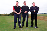 John McArdle, Brian Moss and Patrick Aiken at the RNLI Golf Classic at Seapoint Golf Club..Picture: Paul Mohan/Newsfile