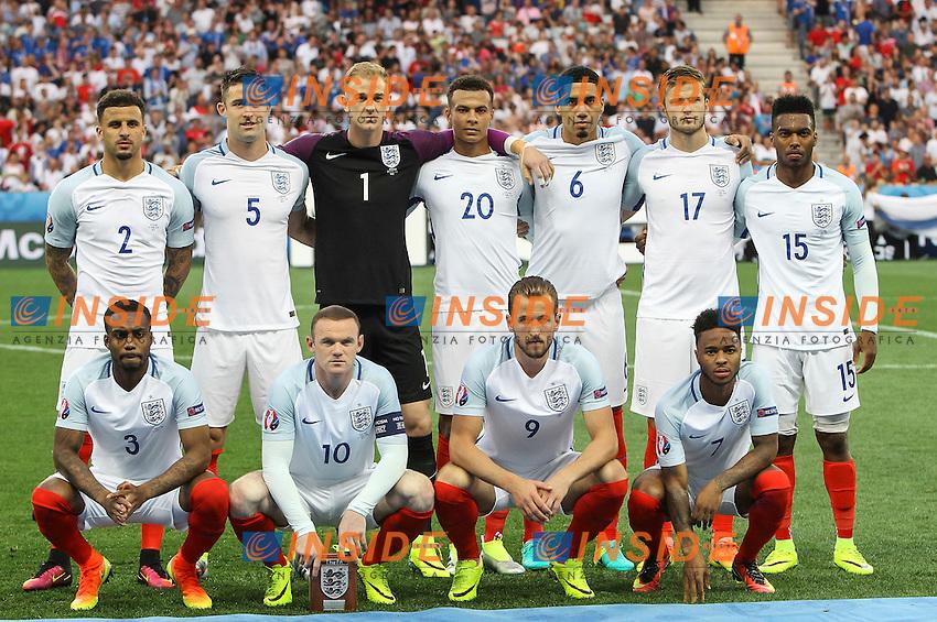 England line up Formazione <br /> Nice 27-06-2016 Stade de Nice <br /> Football Euro2016 England - Iceland / Inghilterra - Islanda Round of 16 / Ottavi di finale Foto Daniel Chesterton / Phc / Insidefoto