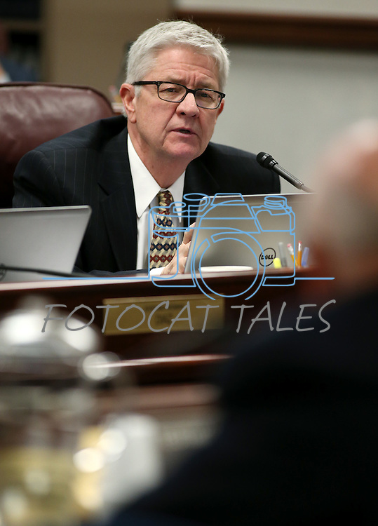 Nevada Assemblyman Erven Nelson, R-Las Vegas, works in committee at the Legislative Building in Carson City, Nev., on Friday, May 1, 2015.<br /> Photo by Cathleen Allison