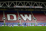 Wigan Athletic 1 Rubin Kazan 1, 24/10/2013. DW Stadium, Europa League Group D. Wigan Athletic embark on their first European campaign having won the FA Cup the previous season. The DW Stadium is temporarily known as The Wigan Athletic Stadium for Europa League fixtures. The near empty North Stand.  Photo by Paul Thompson.