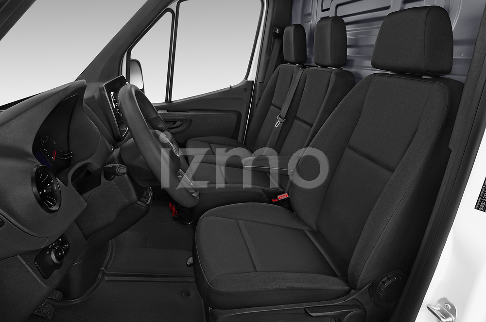 Front seat view of a 2019 Mercedes Benz Sprinter Cargo Van Base 4 Door Cargo Van front seat car photos