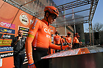 Olympic Champion Greg Van Avermaet (BEL) CCC Team at sign on in Fortezza Medicea before the start of the 110th edition of Milan-San Remo 2019 running 291km from Milan to San Remo, Italy. 23rd March 2019.<br /> Picture: LaPresse/Gian Matteo D'Alberto | Cyclefile<br /> <br /> <br /> All photos usage must carry mandatory copyright credit (© Cyclefile | LaPresse/Gian Matteo D'Alberto)