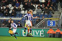 VOETBAL: ABE LENSTRA STADION: HEERENVEEN: 30-11-2013, SC Heerenveen - Go Ahead Eagles, uitslag 3-1, Luciano Slagveer (#17 | SCH), Jop van der Linden (#4 | GAE), ©foto Martin de Jong