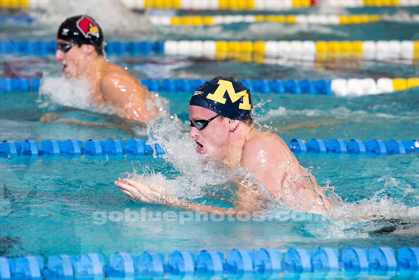 10/24/14  The University of Michigan men's swimming and diving team; Day 1 of the Big Quad meet at Canham Natatorium in Ann Arbor, Mich., on October 24, 2014.