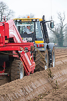 Dean Bartram Agricultural Contrctor destoning for onion sets - Norfolk, February