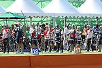 (L-R)<br /> Saori Nagamine,<br /> Kaori Kawanaka, <br /> Yuki Hayashi (JPN), <br /> AUGUST 5, 2016 - Archery : <br /> Women's Individual Ranking Round <br /> at Sambodromo<br /> during the Rio 2016 Olympic Games in Rio de Janeiro, Brazil. <br /> (Photo by Koji Aoki/AFLO SPORT)