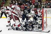 Phil Zielonka (Harvard - 72), Stu Wilson (Yale - 6), Alex Lyon (Yale - 34), Joseph Caffrey (Harvard - 24) - The visiting Yale University Bulldogs defeated the Harvard University Crimson 2-1 (EN) on Saturday, November 15, 2014, at Bright-Landry Hockey Center in Cambridge, Massachusetts.