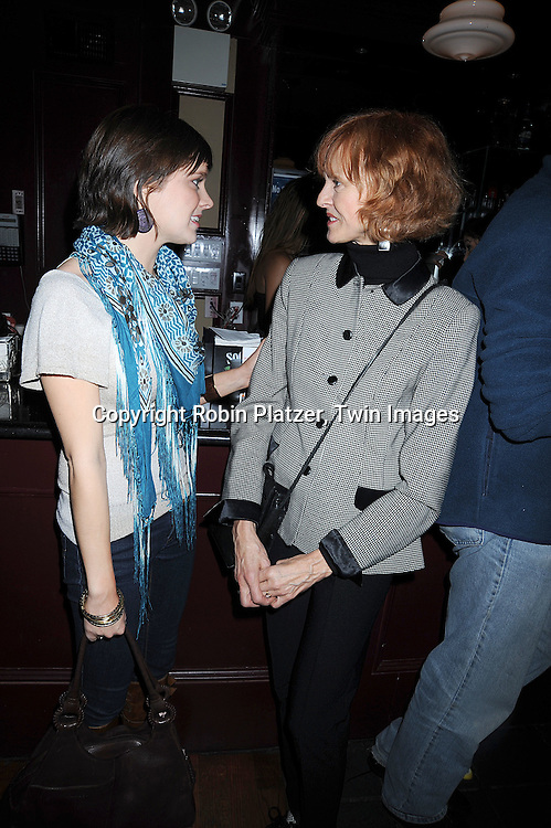 """actress Marnie Schulenburg, on As The World Turns and Jill Larson, actress on All My Children.. arriving at The New York Novie Premiere party for """"Were The World Mine"""" on November 21, 2008 at Country Club.....Robin Platzer, Twin Images"""