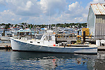 Lobster Boat at Dock in Boothbay Harbor, Maine, USA