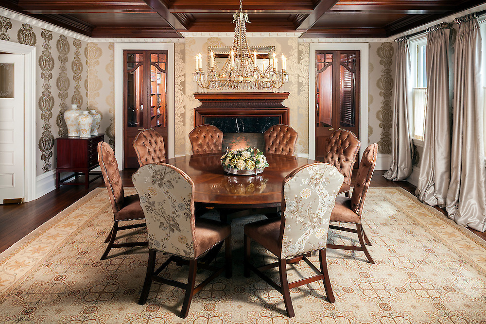 A 20th Century Dining Room was converted to have state-of-the-art lighting control technology without the loss of historic detailing.