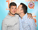 Stephen Oremus and John Tartaglia attends the 'Avenue Q' - 15th Anniversary Performance Celebration at Novotel on July 31, 2018 in New York City.