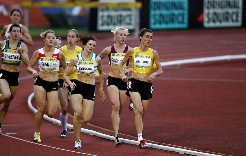 Photo: Richard Lane/Richard Lane Photography..Aviva World Trials & UK Championships athletics. 10/07/2009. Women's 800m heat.