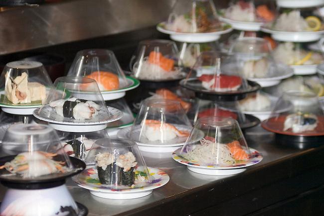 Sushi, Moshi Moshi Restaurant, Hoxton, London, Great Britain, Europe