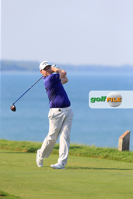 Branden GRACE (RSA) tees off the 16th tee during Sunday's Final Round of the 97th US PGA Championship 2015 held at Whistling Straits, Mosel, Kohler, Wisconsin, United States of America. 16/08/2015.<br /> Picture Eoin Clarke, www.golffile.ie