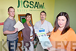 JIGSAW: Staff of the Tralee-based youth mental health support service, which is holding a series of information meetings for parents around Kerry, l-r: Mike Moriarty (Youth Service Worker), Elma Griffin (Administrator), Shane Dinham (Clinical Co-Ordinator), Maire?ad O'Sullivan (Project Manager).