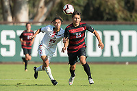 Stanford, CA - August 18, 2018: Stanford defeats CSUN Matadors 2-0 in a Men's exhibition soccer game at Laird Q. Cagan Stadium.