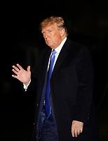Donald Trump returns from Florida