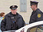 Members of the Saugerties Police Department on duty during the Annual Holiday in the Village Celebration in Saugerties, NY, on Sunday, December 3, 2017. Photo by Jim Peppler. Copyright/Jim Peppler-2017.