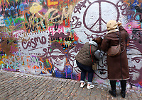 The John Lennon Peace Wall, Prague, Czech Republic on February 28th to March 3rd 2018<br /> CAP/ROS<br /> &copy;ROS/Capital Pictures