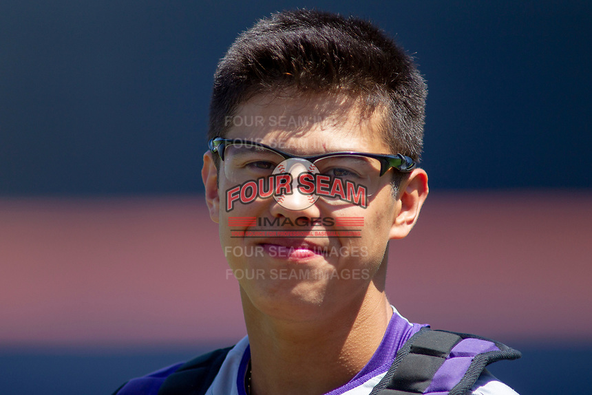 University of Washington Huskies Michael Petrie (27) prior to the game against the Cal State Fullerton Titans at Goodwin Field on June 08, 2018 in Fullerton, California. The University of Washington Huskies defeated the Cal State Fullerton Titans 8-5. (Donn Parris/Four Seam Images)