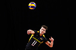 13.09.2019, Paleis 12, BrŸssel / Bruessel<br />Volleyball, Europameisterschaft, Deutschland (GER) vs. Serbien (SRB)<br /><br />Aufschlag / Service Lukas Kampa (#11 GER)<br /><br />  Foto © nordphoto / Kurth
