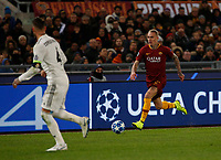 Rick Karsdrop of AS Roma  during the Champions League Group  soccer match between AS Roma - Real Madrid  at the Stadio Olimpico in Rome Italy 27 November 2018