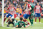 Atletico de Madrid's Jan Oblak and Saul Niguez and Real Betis's Westermann during BBVA La Liga match. April 02,2016. (ALTERPHOTOS/Borja B.Hojas)