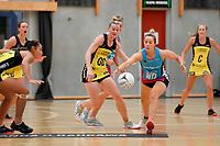 Steel Kate Hefferman and Pulse' Katrina Rore in action during the  Preseason Tournament - Pulse v Steel at Ngā Purapura, Otaki, New Zealand on Sunday 10 February  2019. <br /> Photo by Masanori Udagawa. <br /> www.photowellington.photoshelter.com